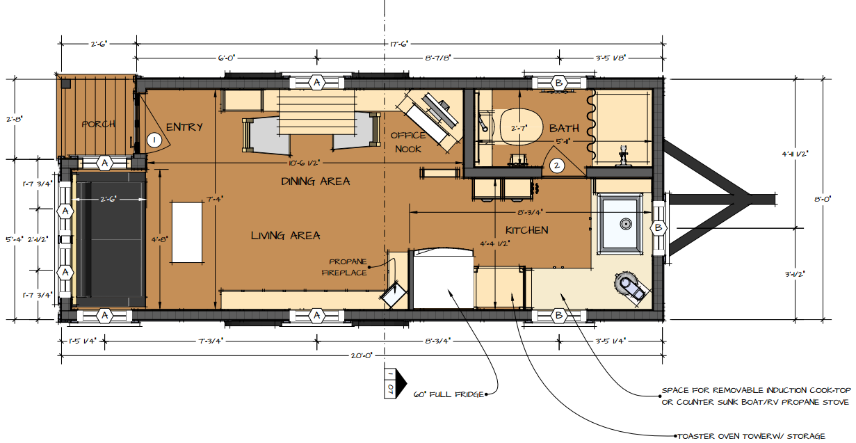 Tiny home plans and how to create a happy tiny living for Tiny house trailer floor plans
