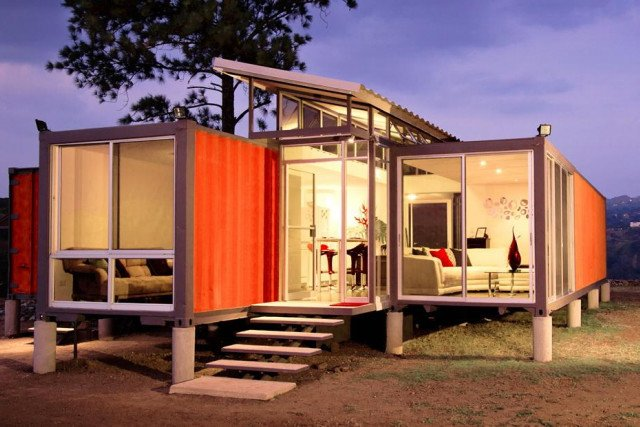 orange container home