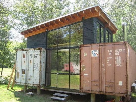green container home building