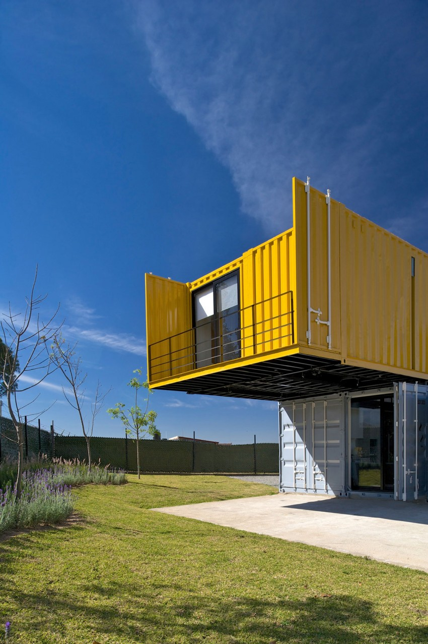 yellow container home