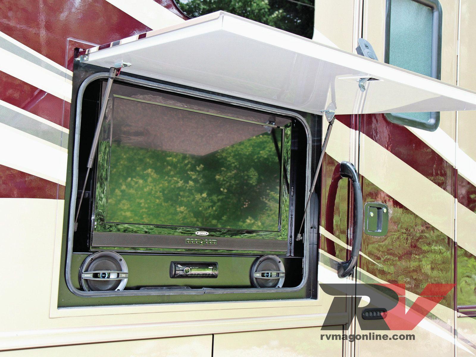 outdoor hidden tv