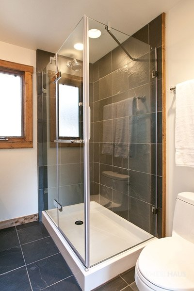 The Wedge Cabin's bathroom