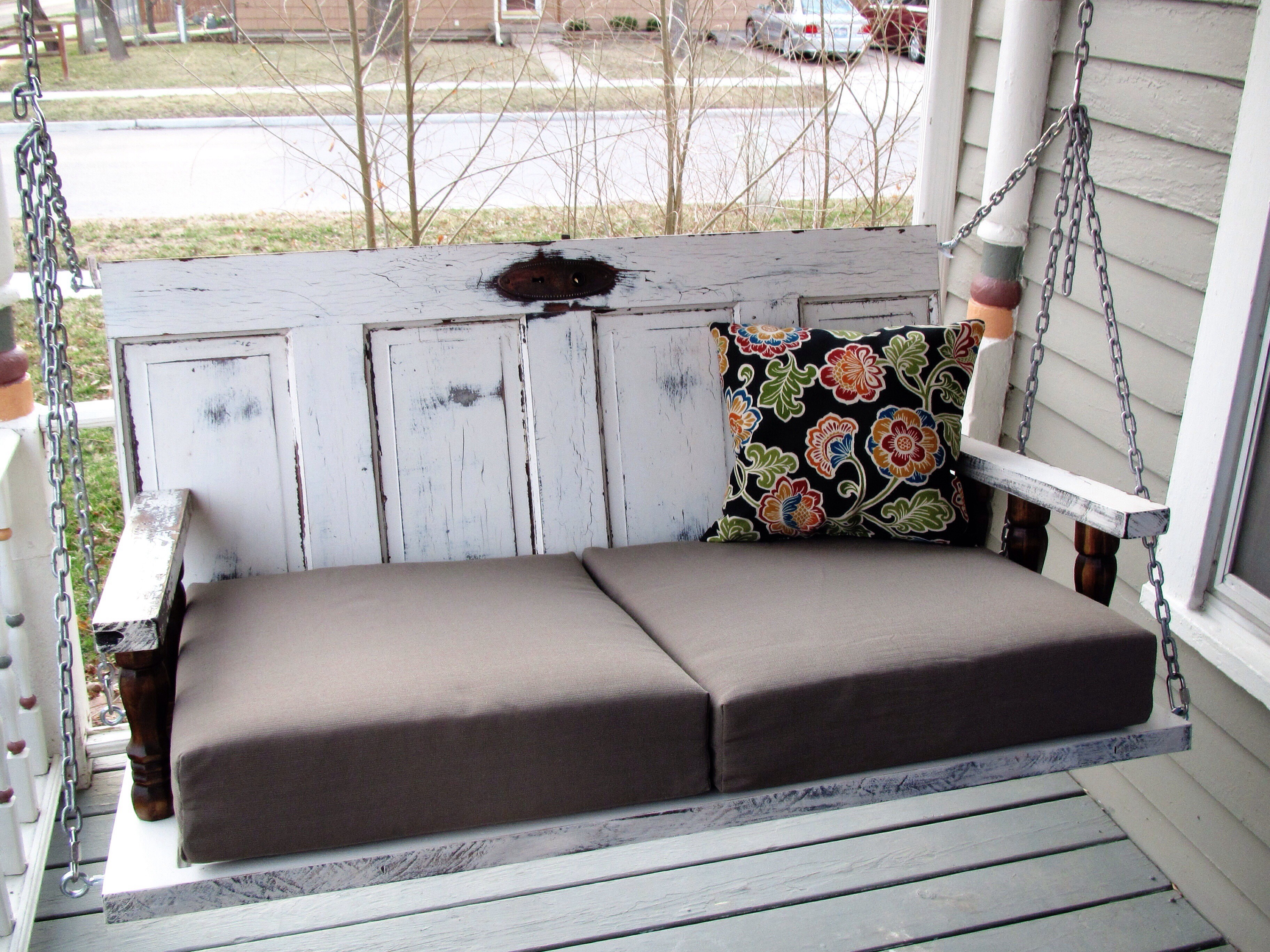 Porch Swing from Old Doors