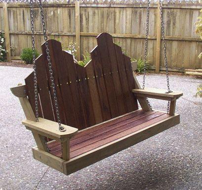 diy porch wooden swings