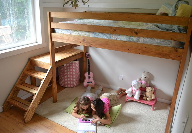 Camp Loft Bed with Stair