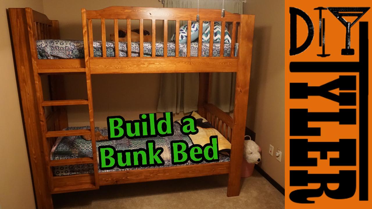 DIY Solid Wood Bunk Bed