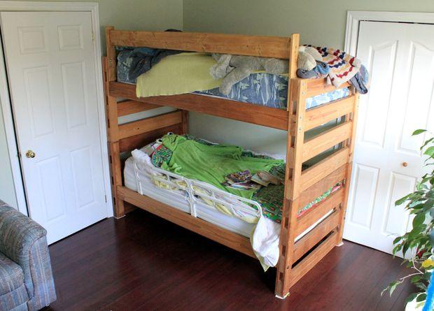 DIY Pine Bunk Beds