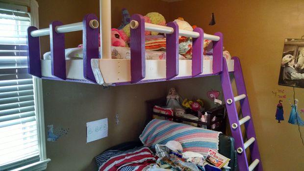 Floating Loft Bed for Under $150