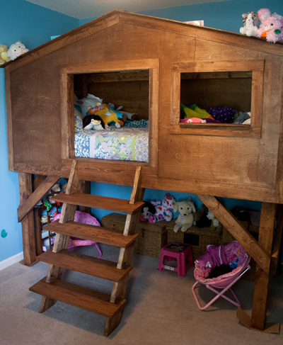 treehouse kid bunk bed