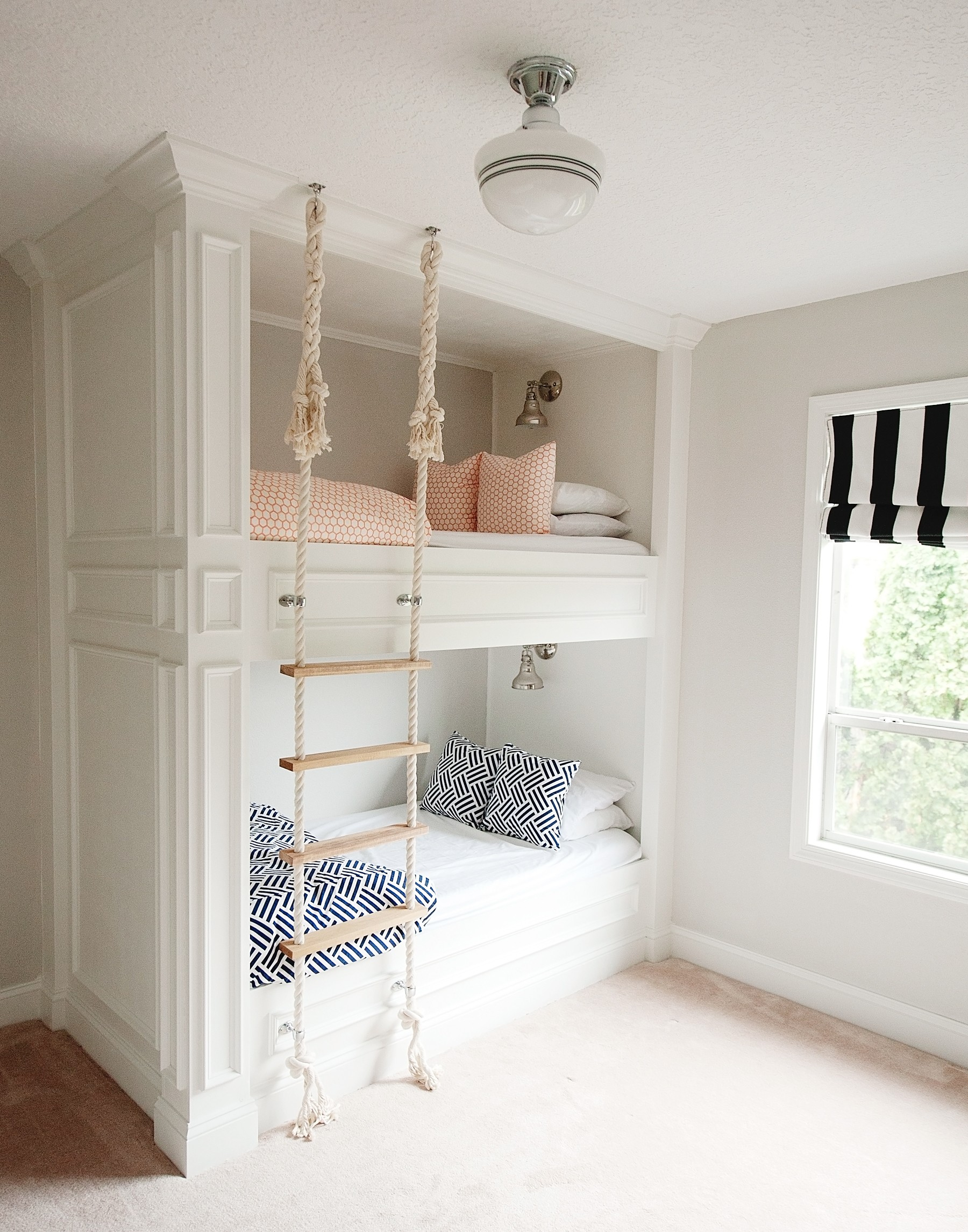 Bunk Bed with Rope Ladder