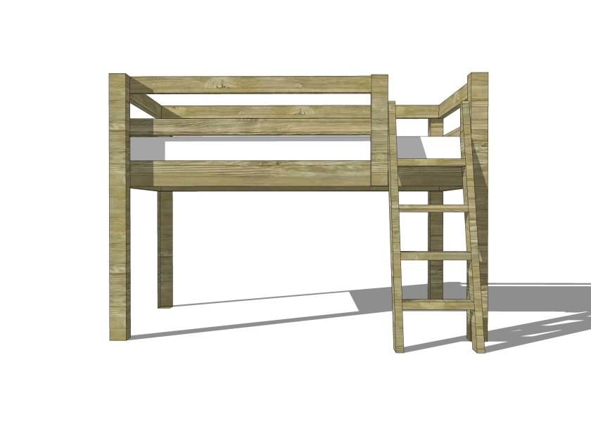 Build a Twin Low Loft Bunk Bed