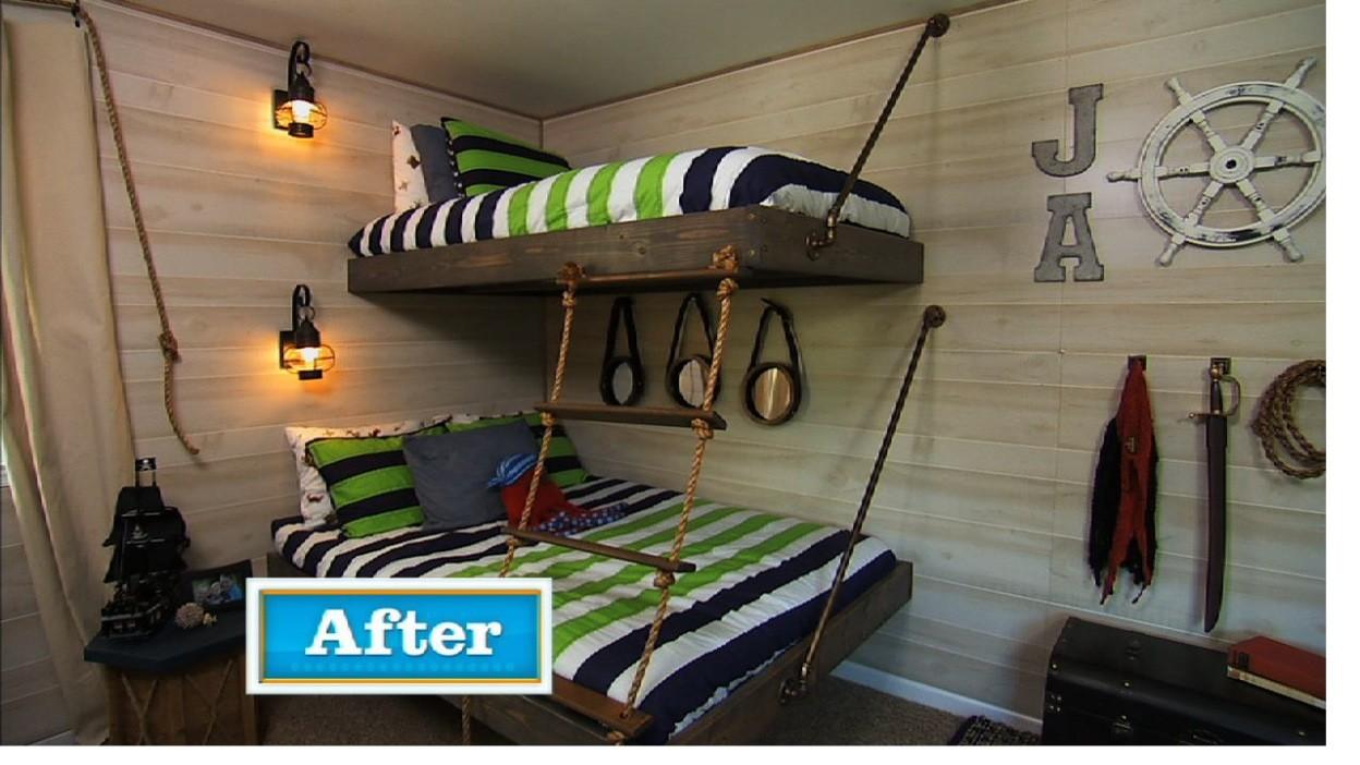 DIY Floating Bunk Bed