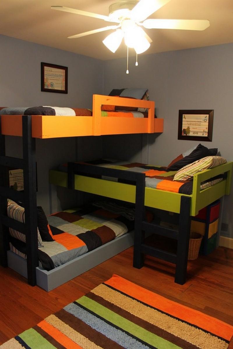 DIY Triple Bunk Bed