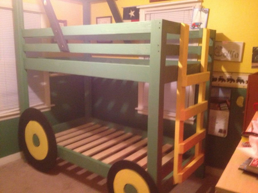 John Deere Tractor Playhouse Plans : Free diy bunk bed plans to save your bedroom space