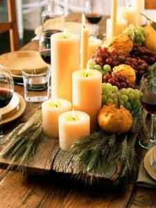 Fall Candle Displays