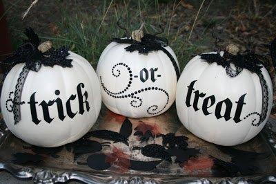 Lace Carved Pumpkins