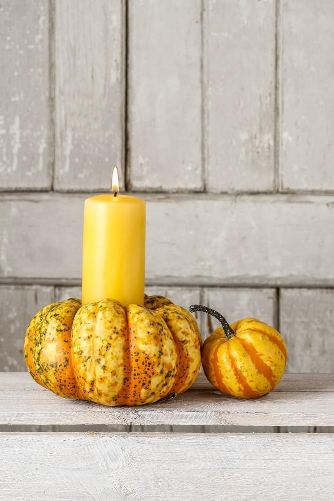 Mini Pumpkin candle holder