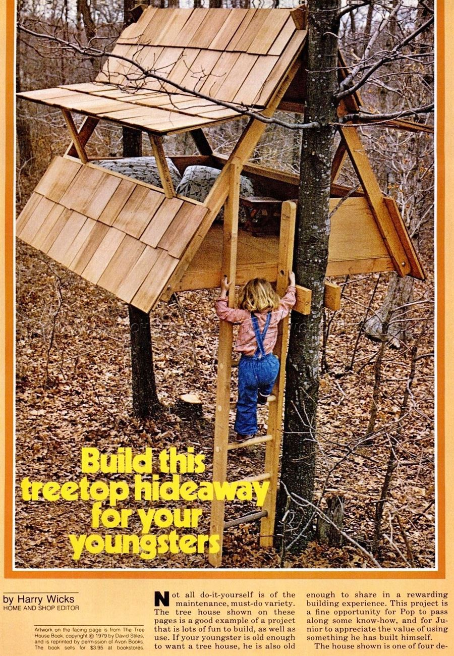 34 free diy tree house plans that will make your neighbor for Build your house online