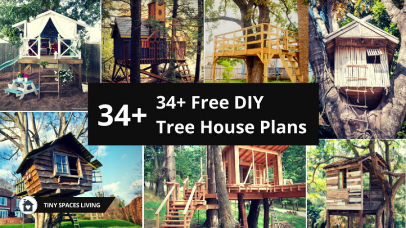 34+ Free DIY Tree House Plans That Will Make Your Neighbor Jealous