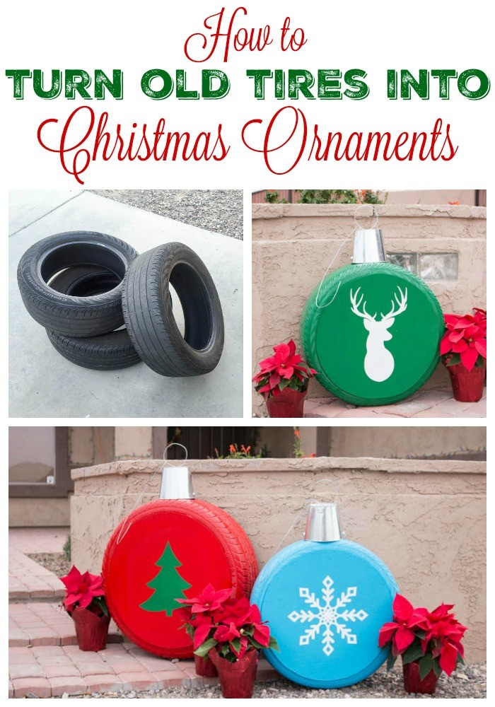 #17. Christmas Ornaments from the Old Tires