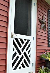 #15. Chippendale Wood Screen Door