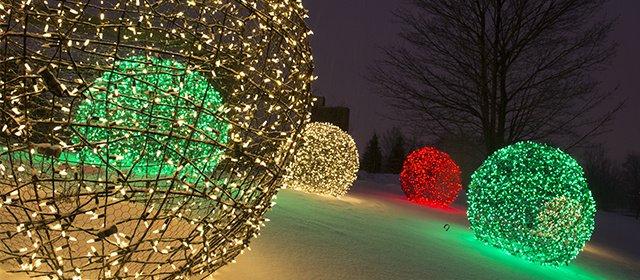#2. Christmas Light Balls
