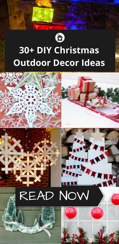 30+ DIY Christmas Outdoor Decor Ideas