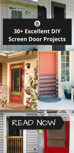 30+ Excellent DIY Screen Door Projects