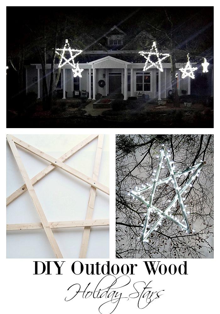 #5. DIY Wooden Lighted Stars
