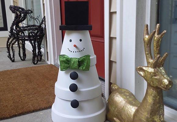 #22. Terra Cotta Snowman